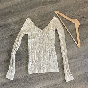 Bebe Fitted Long Sleeve Top